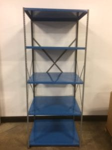 New Industrial Steel Shelving at Used Prices