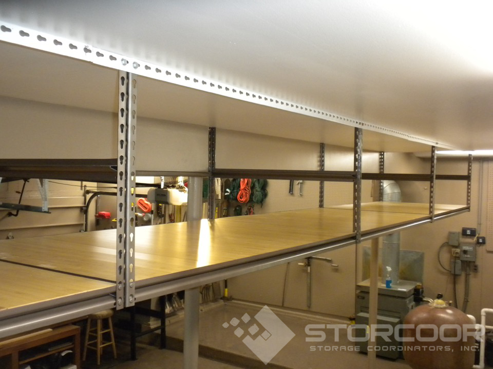 Custom Overhead Garage Shelving