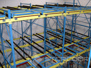 Push back Racking with carts